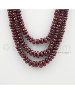 4.70 to 11.50 mm - 3 Lines - Ruby Faceted Beads - 14 to 16 inches (RFB1081)