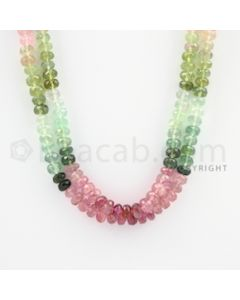 5.50 to 6.00 - 2 Lines - Tourmaline Faceted Beads - 18 to 19 inches (MuToFB1032)