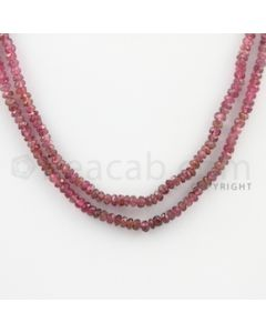 3.00 to 3.25 mm - 2 Lines - Tourmaline Faceted Beads - 17 to 18 inches (MuToFB1036)