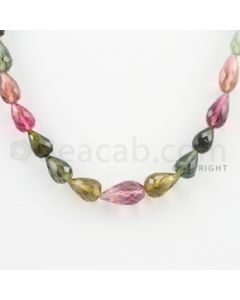 6.00 to 10.00 mm - 1 Line - Tourmaline Drops - 14.5 inches (MuToFD1002)