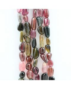 11.00 to 19.00 mm - 5 Lines - Tourmaline Gemstone Tumbled Beads - 885.00 carats (ToTuB1031)
