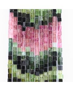 4 to 5.50 mm - 12 Lines - Tourmaline Gemstone Cube Beads - 877.00 carats (ToCube1001)