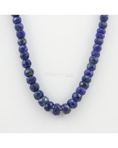 6.80 to 11.40 mm - 1 Line - Lapis Lazuli Gemstone Faceted Beads - 232.90 carats (LapisB1006)