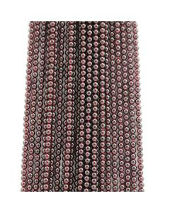 5 mm - 24 Lines - Garnet Gemstone Smooth Beads - 2532.00 carats (GarnB1002)