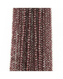 4 mm - 20 Lines - Garnet Gemstone Faceted Beads - 1273.00 carats (GarnB1003)