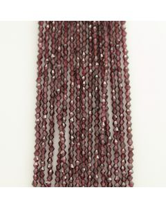 3.50 to 4 mm - 15 Lines - Garnet Gemstone Faceted Beads - 651.50 carats (GarnB1004)