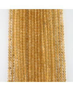 4.20 mm - 31 Lines - Citrine Gemstone Smooth Beads - 1496.00 carats (CitSB1001)
