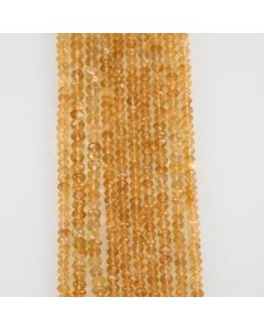 5 mm - 10 Lines - Citrine Gemstone Faceted Beads - 678.00 carats (CitFB1005)