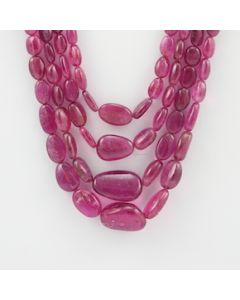 4 to 18.50 mm - 4 Lines - Tourmaline Gemstone Tumbled Beads - 284.00 carats (ToTub1048)
