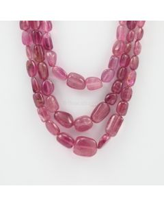 5 to 16 mm - 3 Lines - Tourmaline Gemstone Tumbled Beads - 410.00 carats (ToTub1052)