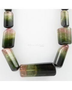 17 to 62 - 1 Line - Watermelon Tourmaline Gemstone Tumbled Beads - 983.00 carats (ToTub1070)