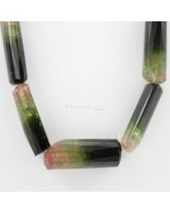 21 to 45 mm - 1 Line - Watermelon Tourmaline Gemstone Faceted Tumbled Beads - 1102.00 carats (ToTub1071)