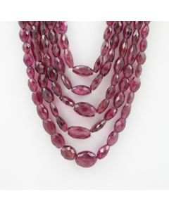 7.50 to 17 mm - 5 Lines - Tourmaline Gemstone Faceted Tumbled Beads - 860.45 carats (ToFTuB1003)