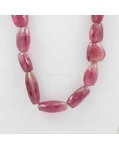 19 to 35 mm - 1 Line - Tourmaline Gemstone Faceted Tumbled Beads - 837.00 carats (ToFTuB1006)
