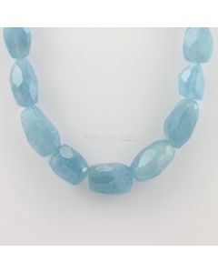 12.60 to 29 mm - 1 Line - Aquamarine Gemstone Faceted Tumbled Beads - 720.64 carats (AqFTub1002)