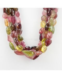 13 to 23 mm - 4 Lines - Tourmaline Gemstone Faceted Tumbled Beads - 1555.00 carats (MuToFTub1001)