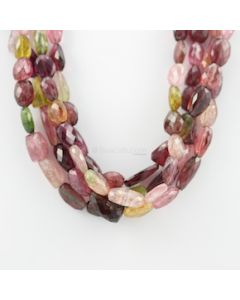 11 to 20 mm - 4 Lines - Tourmaline Gemstone Faceted Tumbled Beads - 1089.00 carats (MuToFTub1003)