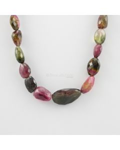 13 to 30 mm - 1 Line - Tourmaline Gemstone Faceted Tumbled Beads - 349.00 carats (MuToFTub1005)