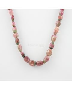 5 to 15 mm - 1 Line - Watermelon Tourmaline Gemstone Faceted Tumbled Beads - 203.50 carats (MuToFTub1006)