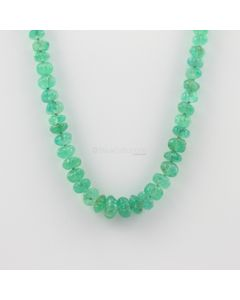 4.50 to 10 mm - 1 Line - Emerald Gemstone Carved Beads - 138.50 carats (EmCarB1008)