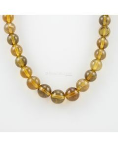 9.50 to 12.50 mm - 1 Line - Yellow Tourmaline Gemstone Smooth Beads - 430.19 carats (YToSB1001)