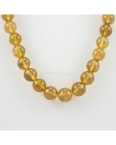 11 to 13 mm - 1 Line - Yellow Tourmaline Gemstone Smooth Beads - 526.41 carats (YToSB1002)