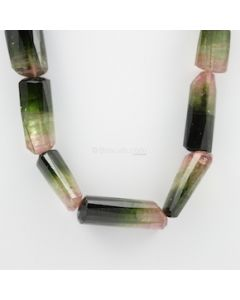 16 to 50 mm - 1 Line - Watermelon Tourmaline Gemstone Faceted Tumbled Beads - 1643.00 carats (ToFB1016)