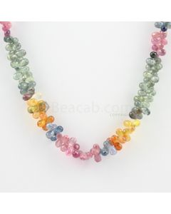 4 to 5 mm - 1 Line - Multi-Sapphire Drop Necklace - 160.64 carats (MSFD1017)