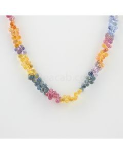 3.50 to 5 mm - 1 Line - Multi-Sapphire Drop Necklace - 98.00 carats (MSFD1021)