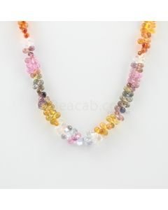 4.50 to 7 mm - 1 Line - Multi-Sapphire Drop Necklace - 126.73 carats (MSFD1022)