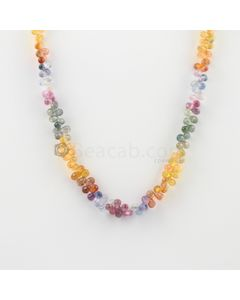 4.50 to 5.50 mm - 1 Line - Multi-Sapphire Drop Necklace - 142.08 carats (MSFD1023)