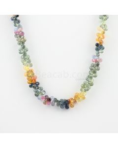 5 to 6 mm - 1 Line - Multi-Sapphire Drop Necklace - 180.70 carats (MSFD1024)