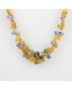6.50 to 10 mm - 1 Line - Multi-Sapphire Drop Necklace - 238.03 carats (MSFD1025)