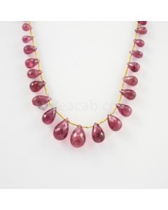 6 to 13.50 mm - Medium Pink Tourmaline Faceted Drop - 50.00 carats (ToDr1077)