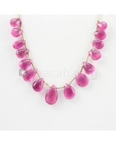 6 to 11 mm - Medium Pink Tourmaline Drop - 15.50 carats (ToDr1080)