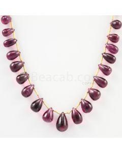 7 to 12 mm - Dark Pink Tourmaline Drop - 52.80 carats (ToDr1082)
