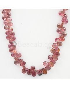5 to 6 mm - Medium Pink Tourmaline Faceted Drop - 88.50 carats (ToDr1083)