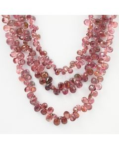 6 to 6.50 mm - Dark Pink Tourmaline Faceted Drop - 236.50 carats (ToDr1084)