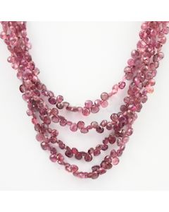 3 to 4 mm - Dark Pink Tourmaline Faceted Drop - 197.00 carats (ToDr1085)