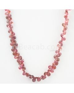 4 to 6 mm - Dark Pink Tourmaline Faceted Drop - 53.50 carats (ToDr1086)