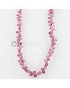 4 to 5 mm - Light Pink Tourmaline Faceted Drop - 30.50 carats (ToDr1088)