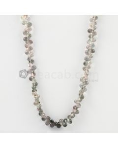 2.80 to 3 mm - Light Tones Tourmaline Faceted Drop - 19.00 carats (ToDr1091)