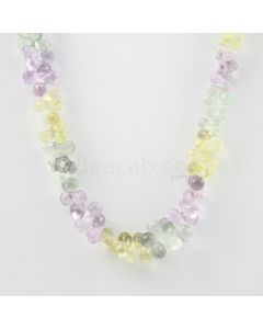 7 to 9 mm - Light Tones Amethyst Faceted Drop Necklace - 172.00 carats (CSNKL1153)
