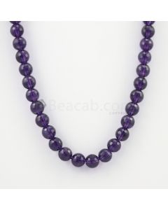 10.30 mm - Dark Purple Amethyst Faceted Beads - 280.50 carats (AmFB1018)