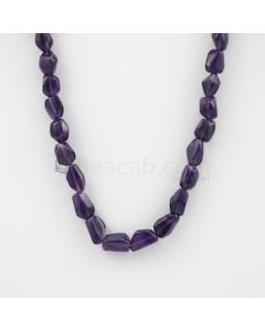 10 to 14 mm - Dark Purple Amethyst Tumbled Beads - 228.55 carats (AmTuB1006)
