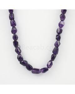 10.50 to 15.50 mm - Dark Purple Amethyst Tumbled Beads - 231.00 carats (AmTuB1007)