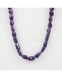 11.50 to 15 mm - Dark Purple Amethyst Tumbled Beads - 214.15 carats (AmTuB1008)