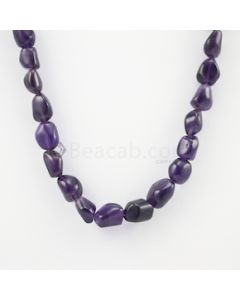 12 to 16 mm - Dark Purple Amethyst Tumbled Beads - 268.50 carats (AmTuB1009)