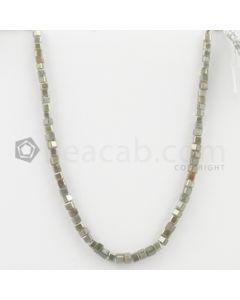 3 to 3.50 mm - Medium Tones Diamond Cube Beads - 8 inches - 29.50 carats (FncyDiaCu1030)