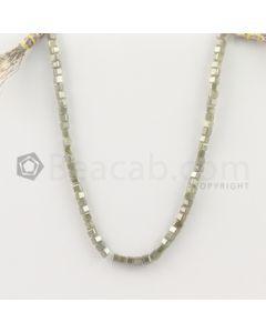 3.40 to 3.70 mm - Medium Tones Diamond Cube Beads - 8.5 inches - 32.50 carats (FncyDiaCu1035)